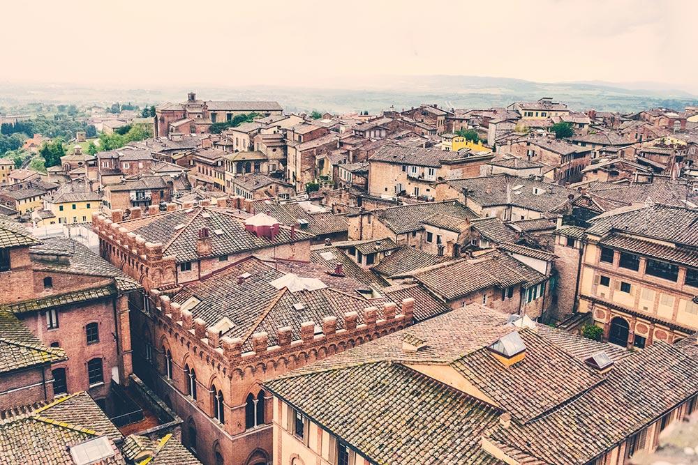 Vista di Siena dall'alto